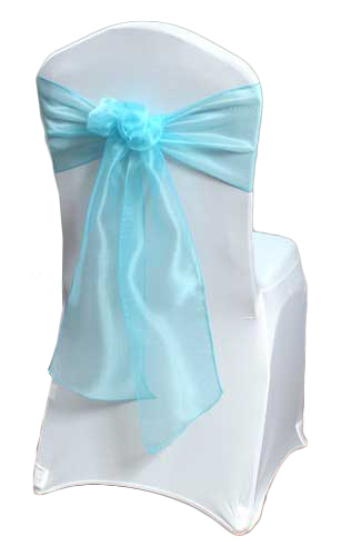 Tiffany Blue Mirror Chair Sashes