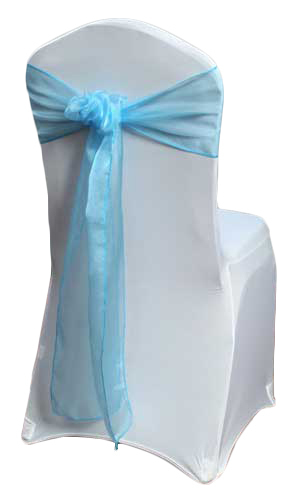 Turquoise Organza Sheer Chair Sashes