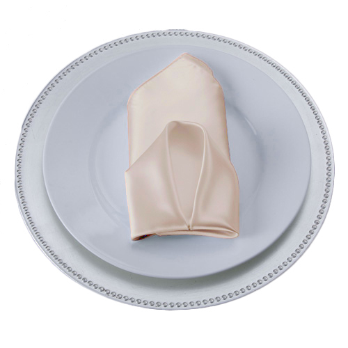 Peach Satin Napkins