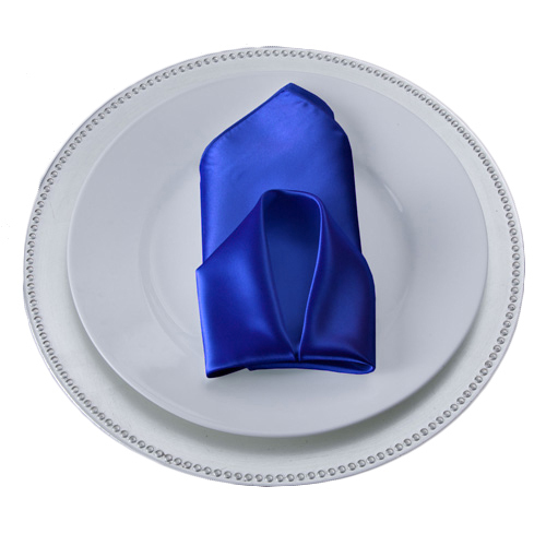 Royal Blue Satin Napkins