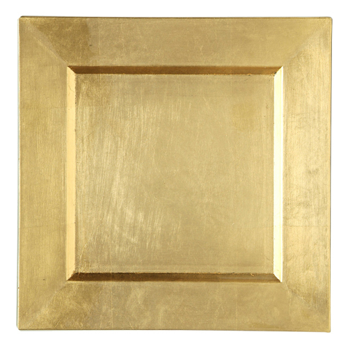 Gold Square Charger Plates - Rental