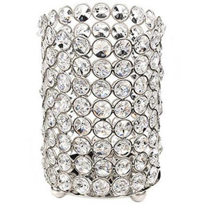 Large Crystal Gem Pillar Candle Holder Rental