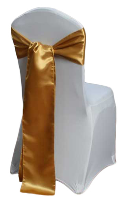 Gold Chair Sashes - Satin