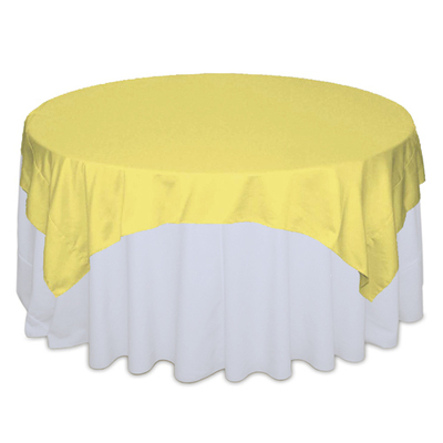 Sunbeam Matte Satin Table Overlay Rental