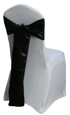 Black Satin Chair Sash Rental
