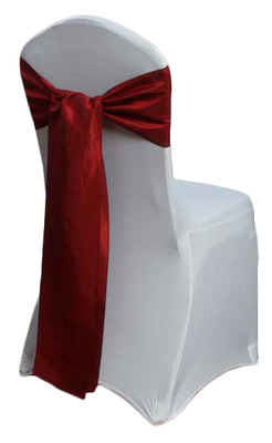 Claret Taffeta Chair Sashes