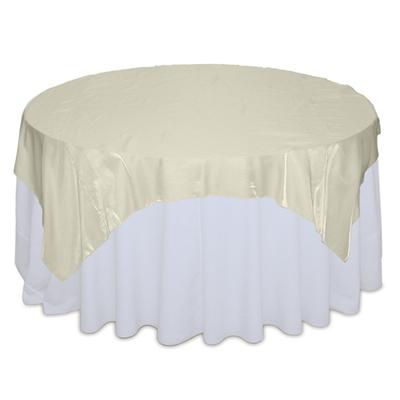 Ivory Organza Satin Table Overlay Rental
