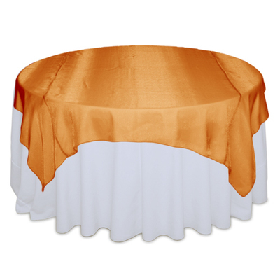 Orange Sheer Table Overlay Rental