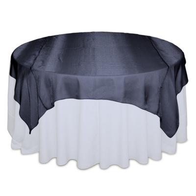 Navy Sheer Table Overlay Rental