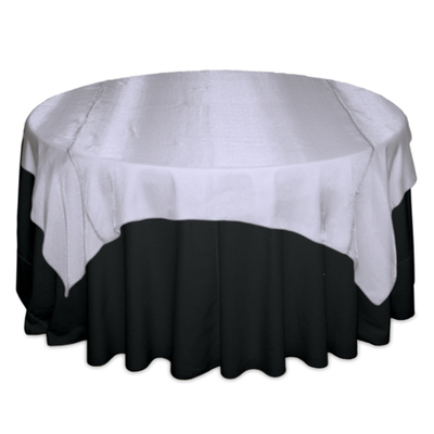 White Sheer Table Overlay Rental