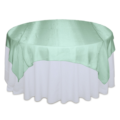 Mint Green Sheer Table Overlay Rental