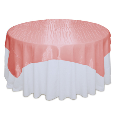 Coral Mirror Table Overlay Rental