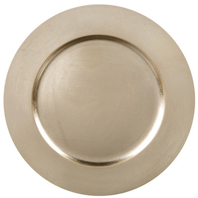 Champagne Charger Plates