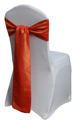 Burnt Orange Taffeta Chair Sashes