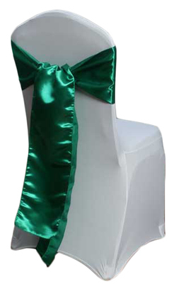 Emerald Satin Chair Sashes
