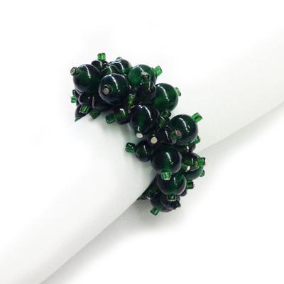 Green Beaded Napkin Rings