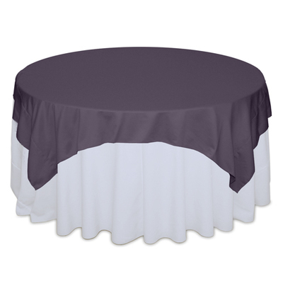 Victorian Lilac Matte Satin Table Overlay Rental