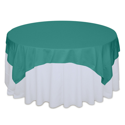 Jade Matte Satin Table Overlay Rental