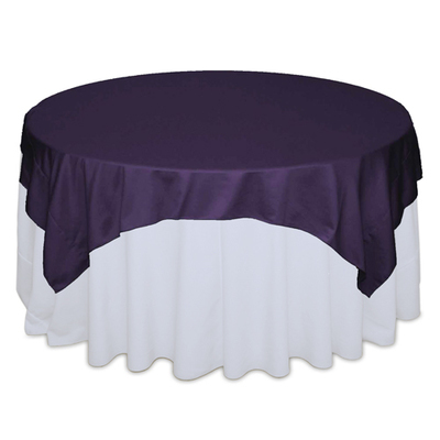Lapis Matte Satin Table Overlay Rental