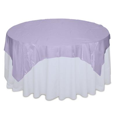 Lilac Organza Satin Table Overlay Rental