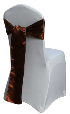 Copper Satin Chair Sash Rental