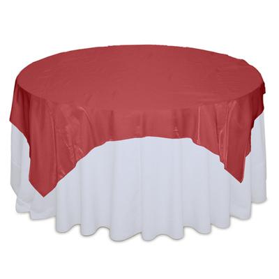 Red Organza Satin Table Overlay Rental