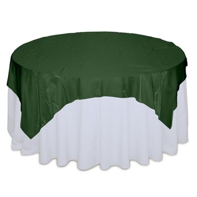 Hunter Green Organza Satin Table Overlay Rental