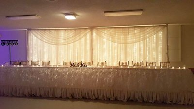 Sheer Lighted Wedding Backdrop - Setup & Tear Down Included - Per 12' Section