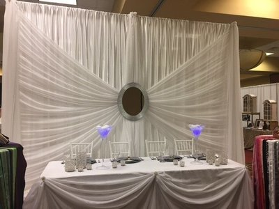 Silver Mirror Wedding Backdrop - 12' - Includes Setup & Tear Down