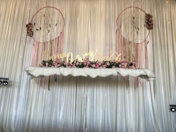 DIY Ivory Sateen Wall Draping - 12' Height - Per Foot