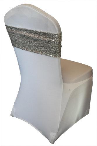 Silver Glitz Sequin Chair Band