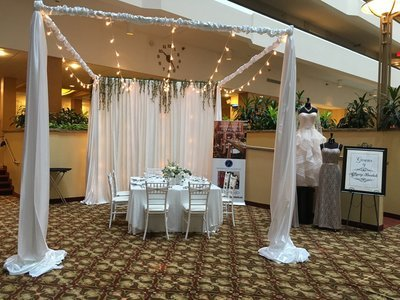 White Glitz Sequin Backdrop