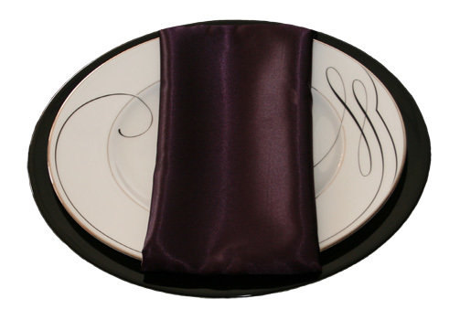 Plum Satin Napkins