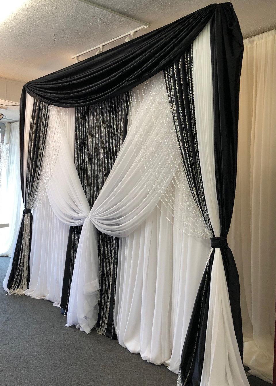 Crystal Beaded Curtain - 12'