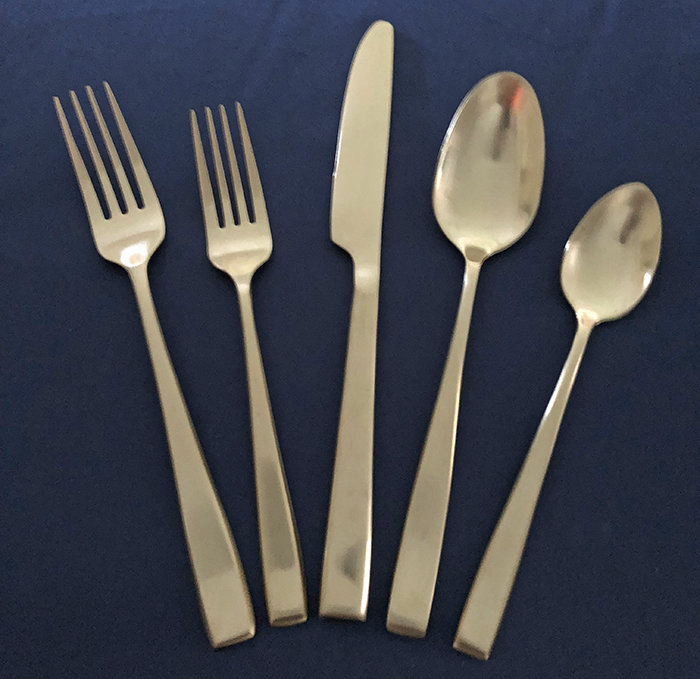 Flatware - Soup Spoon - Matte Gold