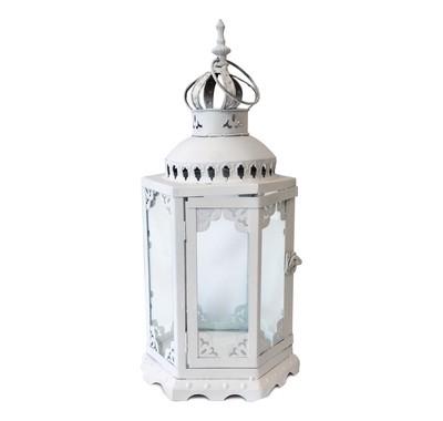 White Wedding Lantern Centerpiece Rentals