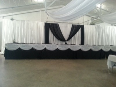 DIY Sateen Wedding Backdrop - 12' High - Per Foot - Minimum 12'