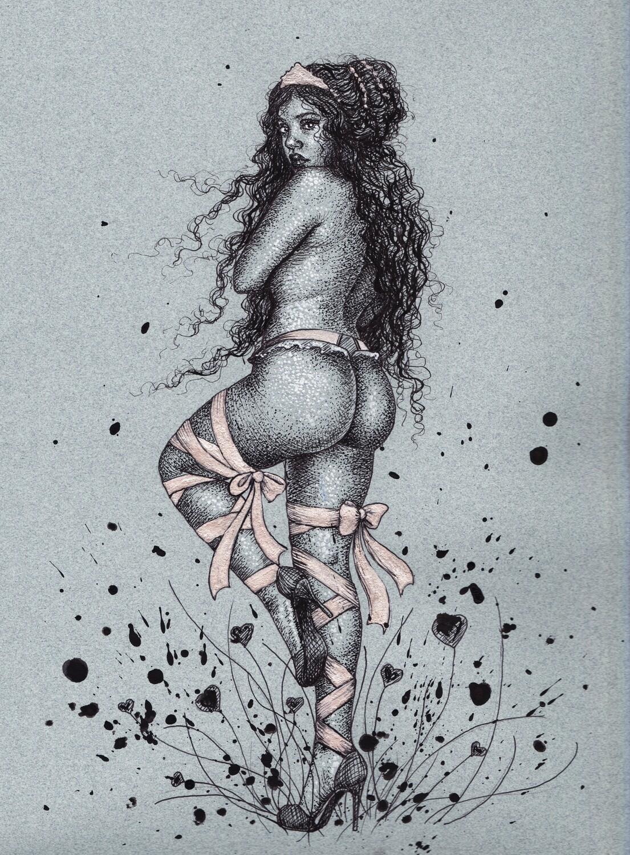 Garden of Hearts (ink) by Brynn Elizabeth