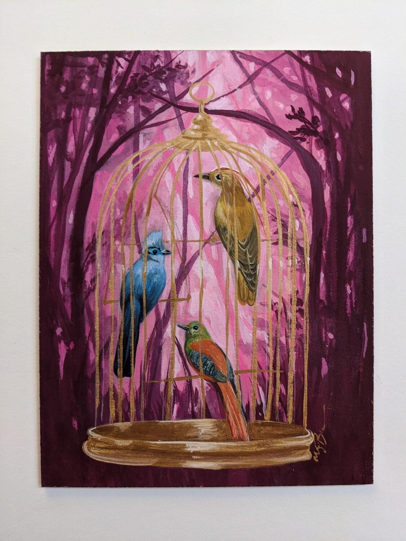 """Print of """"Pink Garden"""" by Megan Buccere"""