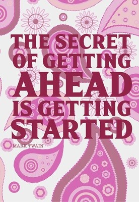 Goal Setting Notebook (The Secret of Getting Ahead is Getting Started)