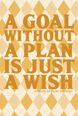 Goal Setting Notebook (A Goal Without a Plan is Just a Wish)