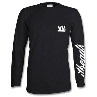 Waxaddict W Long Sleeve T White Logo
