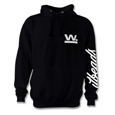 Waxaddict W Hoodie Black/White Logo