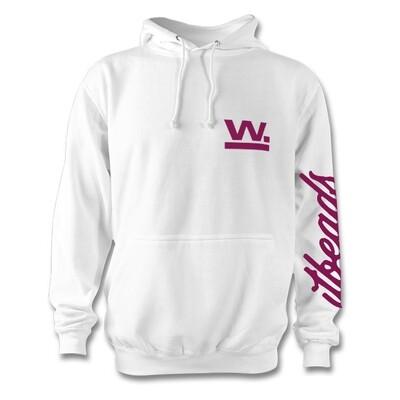 Waxaddict W Hoodie White/Plum Logo