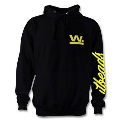 Waxaddict W Hoodie Black Fouro Yellow Logo