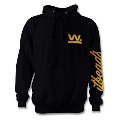 Waxaddict W Hoodie Black Gold Logo
