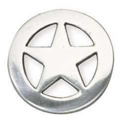 Ranger Star Concho Silver Plate