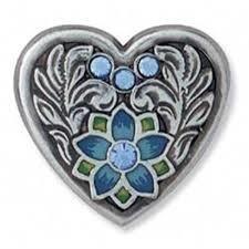 Blue Milan Heart Concho