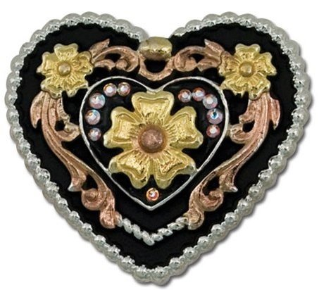 Crystal Canyon Heart Concho 1 3/8""