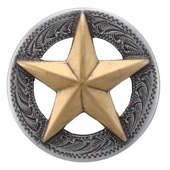 3D Texas Star Conchos